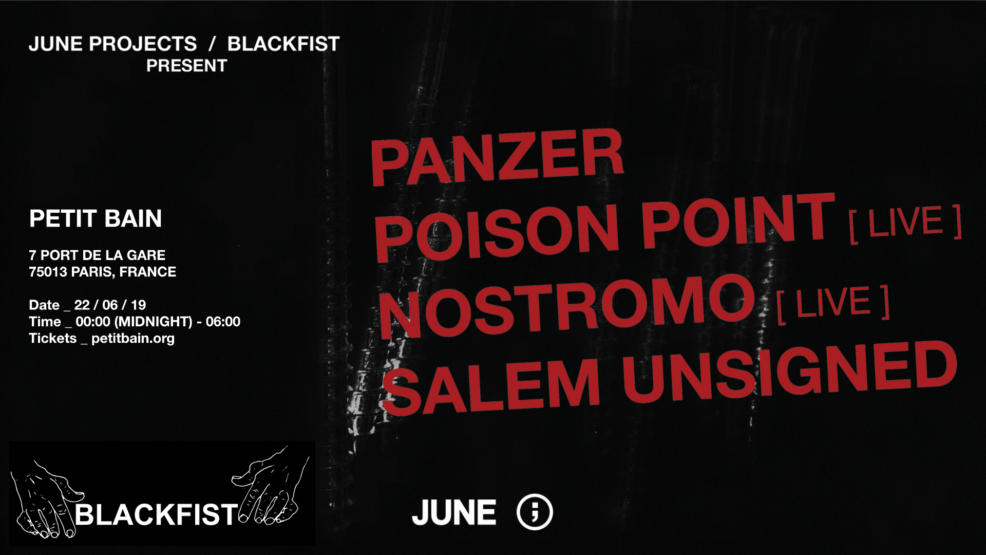 POISON POINT x NOSTROMO x SALEM UNSIGNED x PANZER