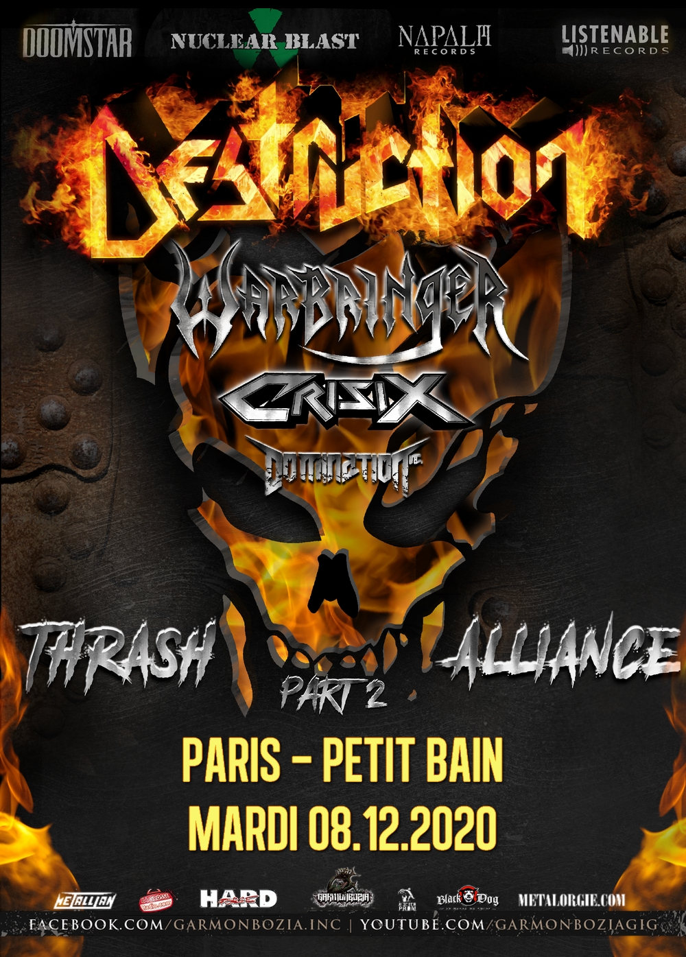 DESTRUCTION + WARBRINGER + CRISIX + DOMINATION INC.